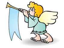 Angel blow trumpet Royalty Free Stock Image