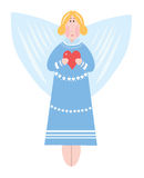 Angel in blue dress Stock Photo