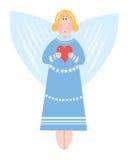Angel in blue dress Stock Photo