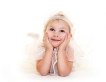 Angel with blue eyes royalty free stock photos