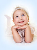 Angel with blue eyes Royalty Free Stock Image