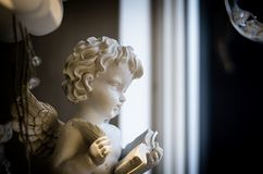 Angel with book stock photography