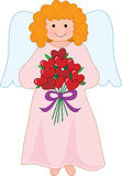 Angel with Bouquet Stock Image