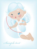 Angel with bow and arrow 4. Royalty Free Stock Images