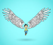Angel boy Royalty Free Stock Photo