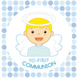 Angel boy. My first communion Royalty Free Stock Photography