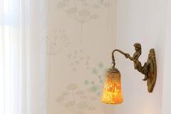 Angel brass lantern Royalty Free Stock Photos