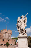 Angel at Bridge in Castel Sant'angelo Roma - Italy Stock Image