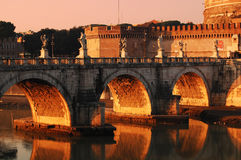Angel Bridge near Castel Sant'Angelo stock photography