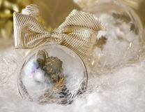 Angel bulb ornament Royalty Free Stock Images