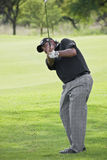 Angel Cabrera - Iron Shot. Onto the 10th Green Stock Photography