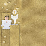 Angel and calyx Communion card Royalty Free Stock Image