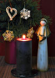 Angel and candle 2 Stock Image