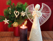 Angel and candle 2 Royalty Free Stock Photos