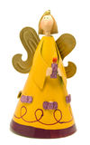 Angel with candle. Christmas toy - smiling angel with candle Stock Photos