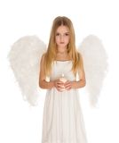 Angel with candle Royalty Free Stock Photo