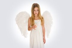 Angel with candle Royalty Free Stock Photography