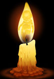 Angel on candle Stock Images
