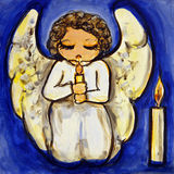 Angel Candlelight Prayer Royalty Free Stock Photos