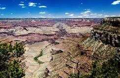 Angel Canyon y plataforma brillantes de Tonto, Grand Canyon Imagen de archivo