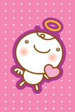 Angel card. A cute angel greeting card Stock Photo