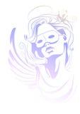 Angel in carnival mask. Carnival costume Stock Photo