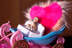 Angel carries love Royalty Free Stock Image