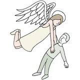 Angel Carrying Spirit. An image of an angel carrying a man's spirit Stock Photography