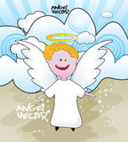 Angel cartoon Stock Photos
