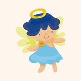 Angel cartoon design elements vector Royalty Free Stock Photography