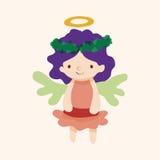 Angel cartoon design elements vector Stock Images