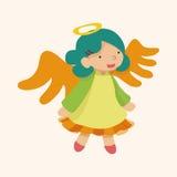 Angel cartoon design elements vector Stock Photos