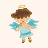 Angel cartoon design elements vector Stock Image