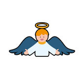 Angel cartoon fairy wing heaven icon. Vector graphic Royalty Free Stock Image