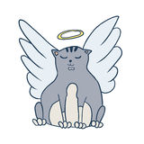 Angel cat Stock Photography