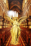 Angel in cathedral stock photo