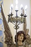 Angel holding lamp in Cathedral of Santiago de Cuba Royalty Free Stock Photography