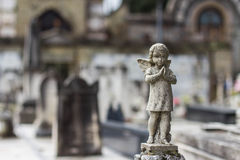 An angel on cemetery Stock Image