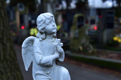 Angel. The angel on the cemetery Stock Photography