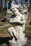 Angel on cemetery. Cemetery of Alexander Nevsky Lavra, Saint-Petersburg Royalty Free Stock Photography
