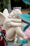 Angel in cemetery Royalty Free Stock Photography