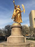 The Angel of Central Park. This is a monument on central park, in the city of New York Royalty Free Stock Photo