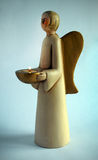 Angel ceramic candlestick Royalty Free Stock Photography