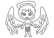 Angel character royalty free stock image