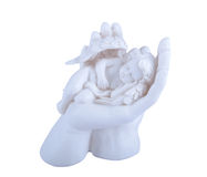 Angel Cherub in the Hand Stock Photos