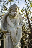 Angel Cherub Statue royalty-vrije stock foto's