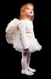 Angel child girl in white Royalty Free Stock Images