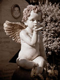 Angel on a child`s grave in the sun Royalty Free Stock Photo
