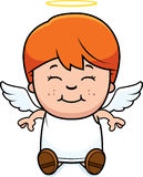 Angel Child Sitting Royalty Free Stock Images