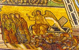 Angel Christ Resurrection Mosaic Dome Bapistry Saint John Florence Italy Royalty Free Stock Images